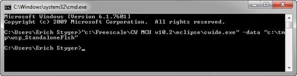 cmd.exe launching eclipse with a workspace