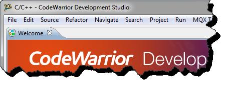 Default CodeWarrior Eclipse Main Frame