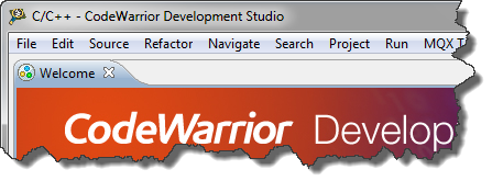 Default CodeWarrior Eclipse Main Frame