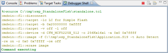 Executing Script in Debugger Shell