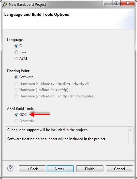 ARM gcc Build Tools