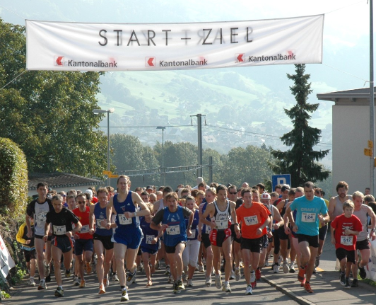Mass Start at the Wildspitzlauf, another Mountain Race in the region