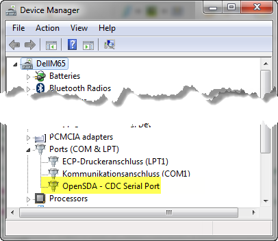 OpenSDA CDC Serial Port in Task Manager
