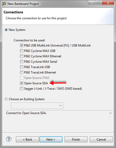 OpenSDA Debug Connection
