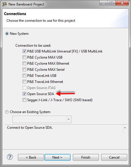 OpenSDA as Debug Connection