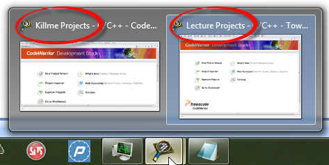 Taskbar Preview with Workspace Name