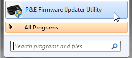 Run P&E Firmware Updater Utility