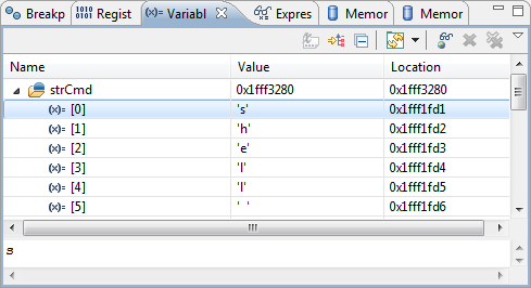 String as Array in Variables View