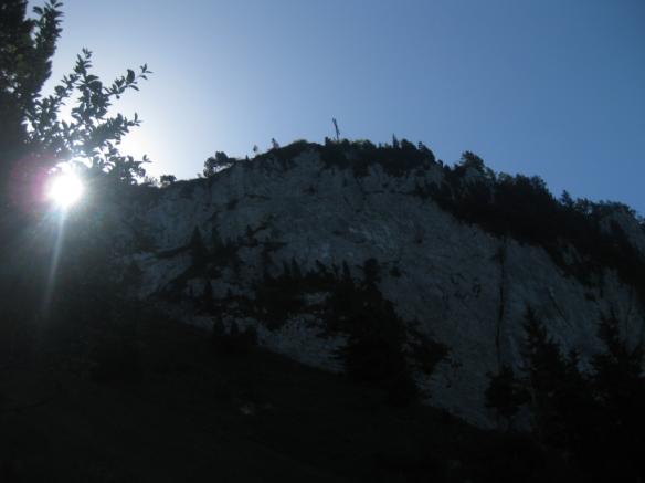 Hochflue peak with cross