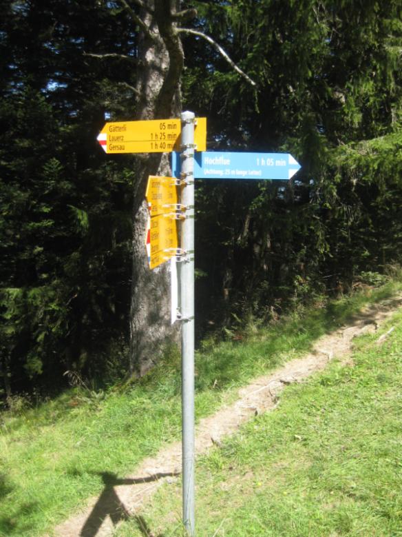 To Hochflue from Gätterli
