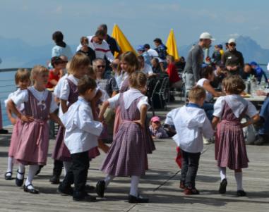 Rigi Traditional Trachten Children Dancing Formation