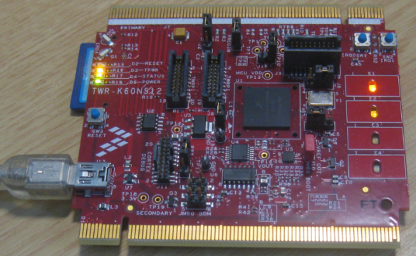 TWR-K60N512 with FatFs SD card application running with Serial Bridge