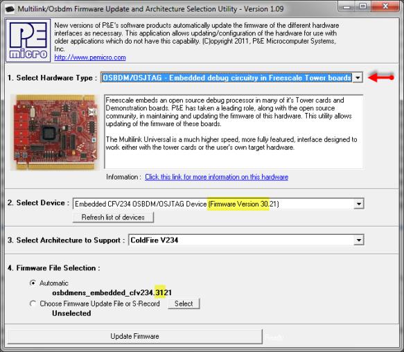 Upgrading OSBDM/OSJTAG Firmware from V30 to V31
