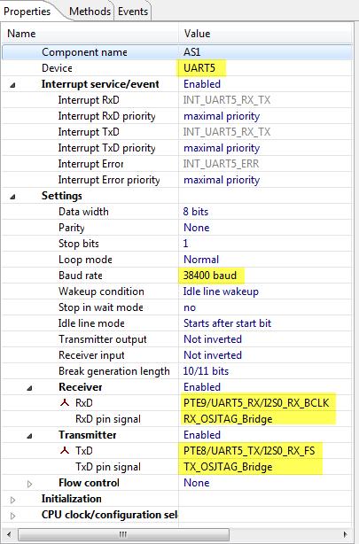 Using UART5 for OSJTAG Serial Bridge
