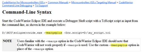 vmargsplus argument description in the documentation