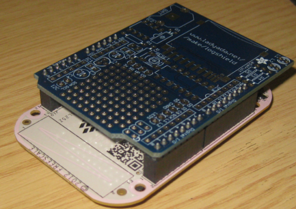 Arduino Shield on top of the Freedom Board