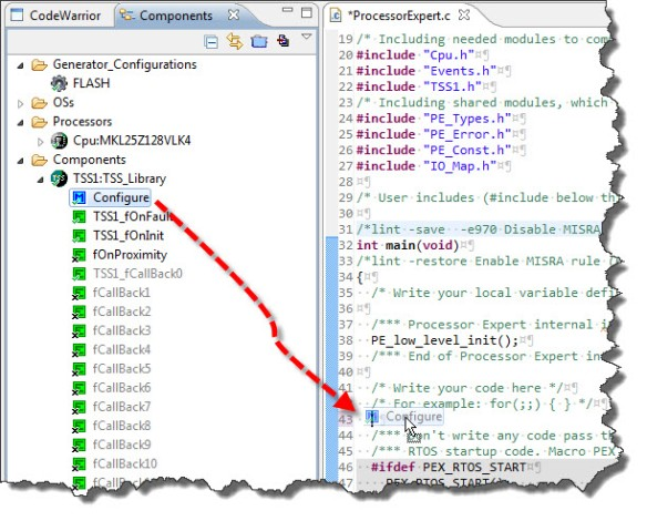 Configuring the TSS Library: drag&drop the method