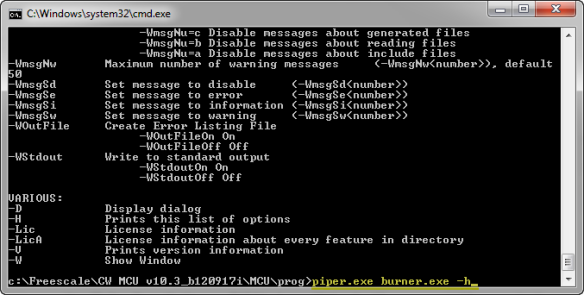 Burner Command Line Interface