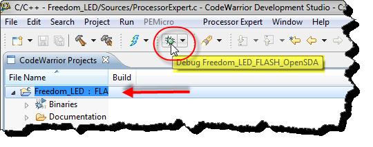 debugging the application