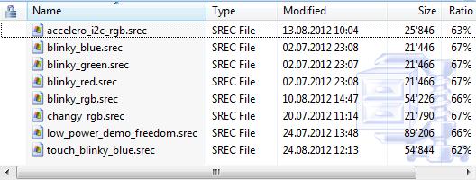 Element14 SREC files for OpenSDA