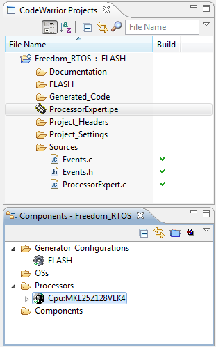 Freedom RTOS Project created