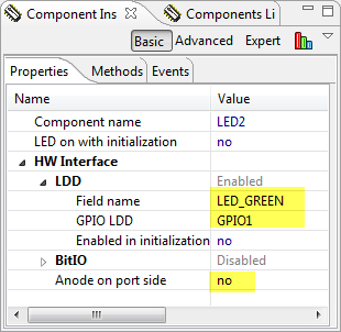 Green Led Settings