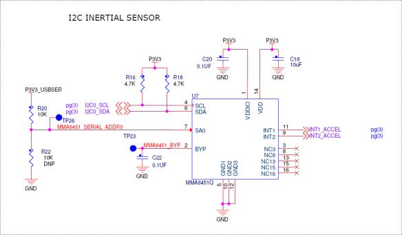 I2C Inertial Sensor Schematics