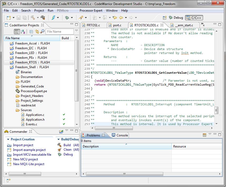 freescale codewarrior 10.3