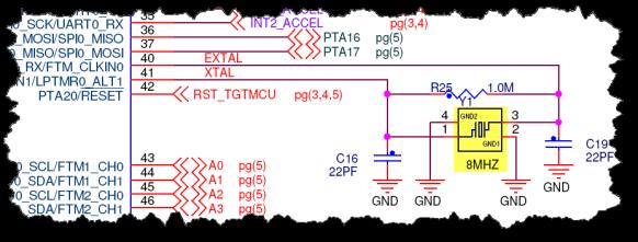 8 MHz Crystal on FRDM-KL25Z