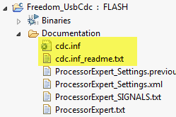 cdc.inf driver files