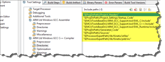 Compiler Directories