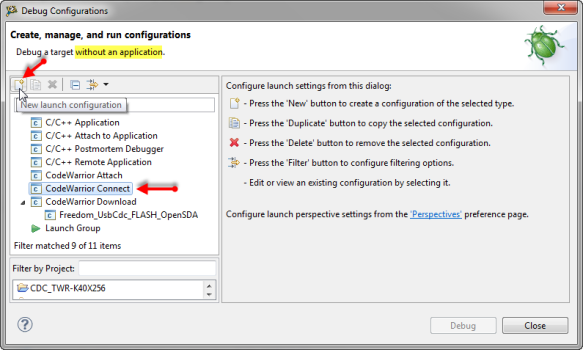 Creating a new Connect Configuration