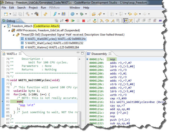 Debugging an Application with Attach
