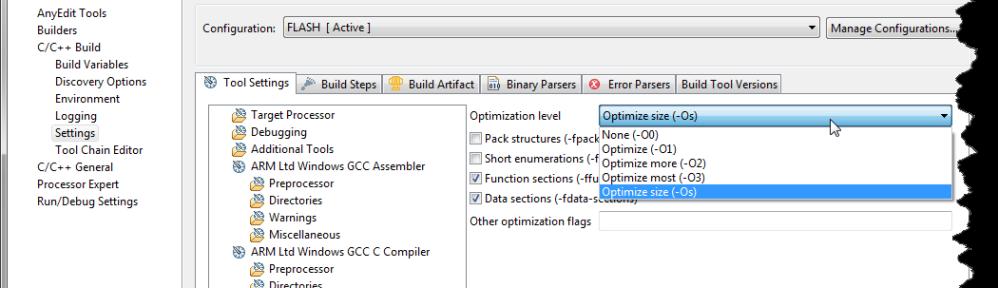 gcc Optimization Levels
