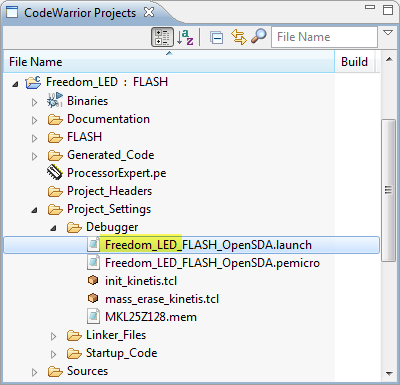 Launch Configuration File Visible in Project