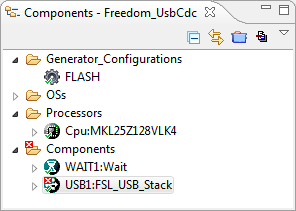Need to configure the FSL_USB_Stack