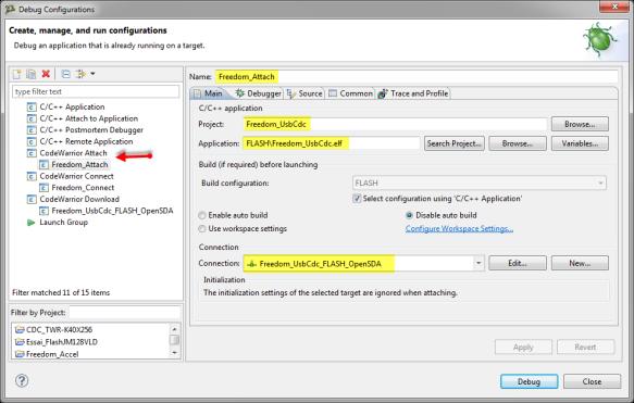 New Attach Configuration