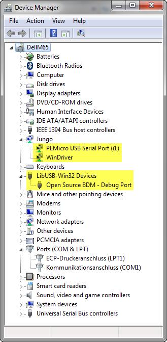 OSBDM OSJTAG USB Drivers