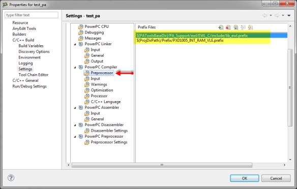 Preprocessor prefix files