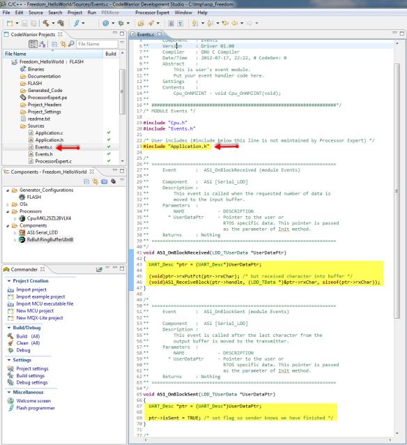 UART Event Code