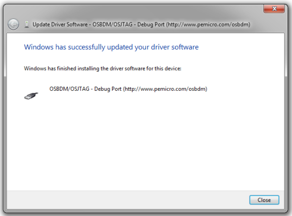 Updated driver software