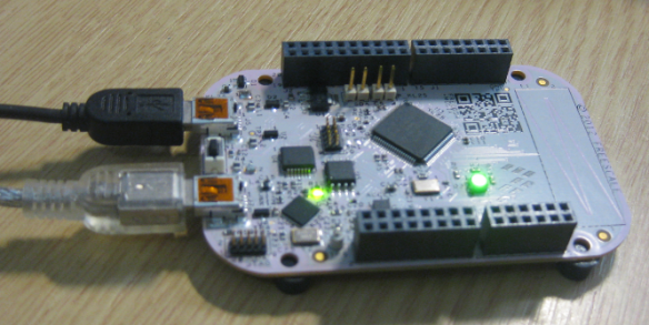 USB enumerated: green LED on