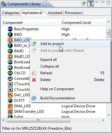 Adding BitIO_LDD Component