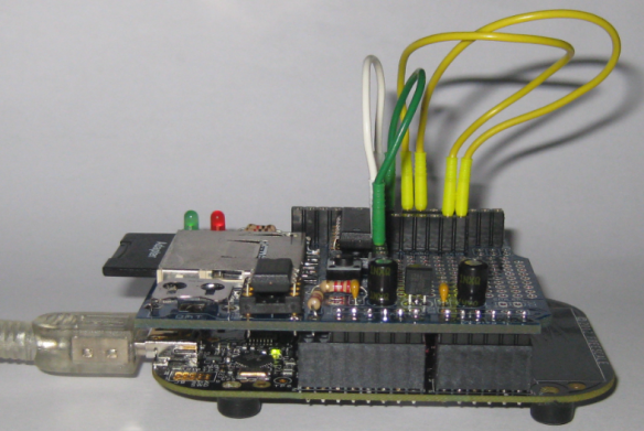 Data Logger Shield on Top of Freedom Board