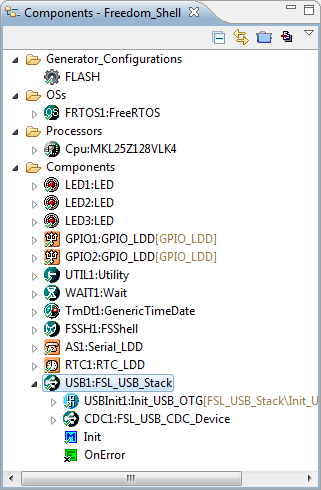 Shell Project with USB CDC