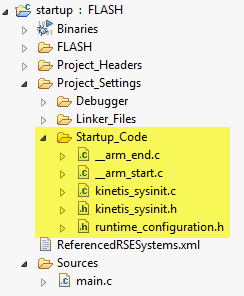 Startup_Files inside the project