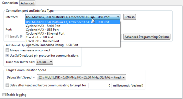 USB Multilinke instead of OpenSDA in CodeWarrior