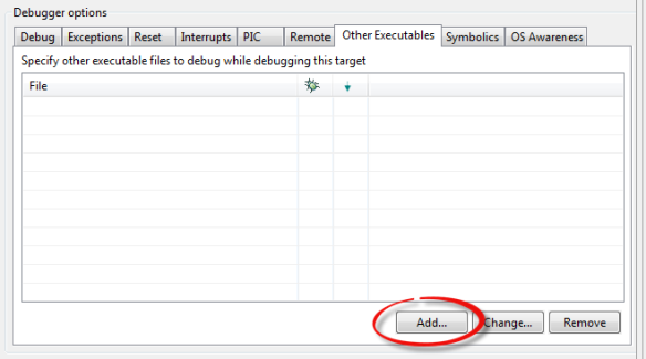 Add new executable button