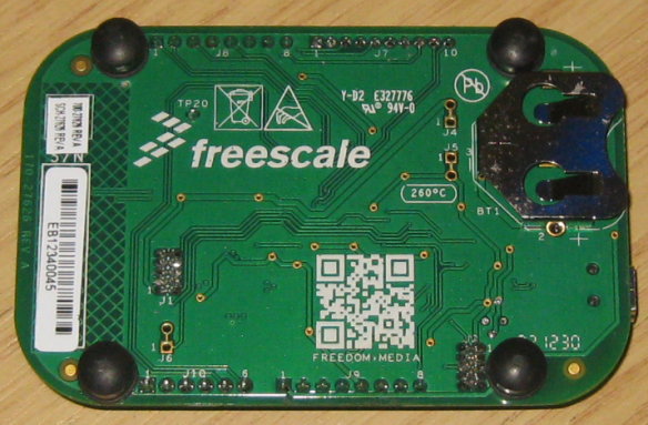 FRDM-KL05Z Board Backside