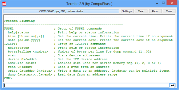 I2CSpy Shell Interface